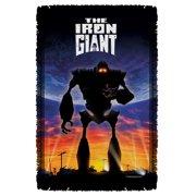 Iron Giant Poster Woven Throw White 48X80