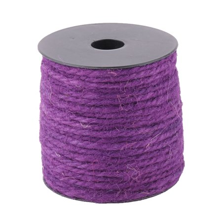 Festival Decor Gift Wrapping Crafts Burlap String Ribbon Roll Purple 50M - Purple Burlap
