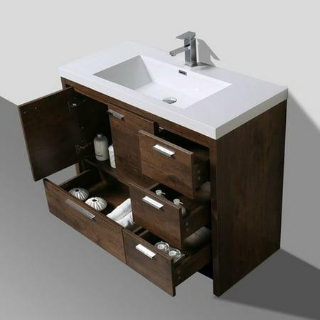 Corrigan Studio Gerard Free Standing Modern 41 Rectangular Single Bathroom Vanity Set