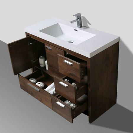 Corrigan studio gerard free standing modern 41 for Levi 29 5 single modern bathroom vanity set