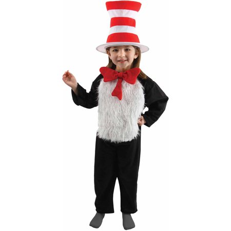 Cat In The Hat Child Halloween Costume - Makeup For Cat Halloween Costume