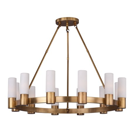 Chandeliers 12 Light Bulb Fixture With Natural Aged Brass Finish E12 Bulb Type 35 inch 480 Watts
