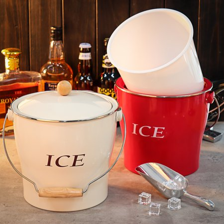 Moaere 4L Detachable Inner Tank Ice Bucket Wine Champagne Ice Container Cooler Holder ()