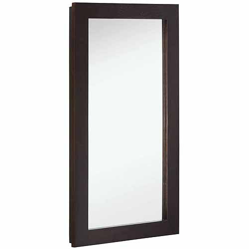 Design House 541326 Ventura Single Door Medicine Cabinet Mirror, Espresso Finish