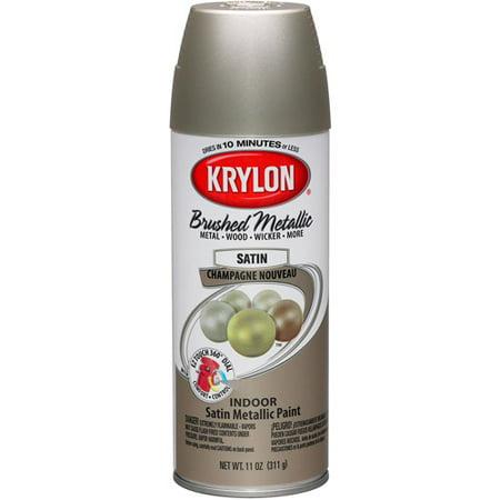Krylon Brushed Metallic Paint Champagne Nouveau