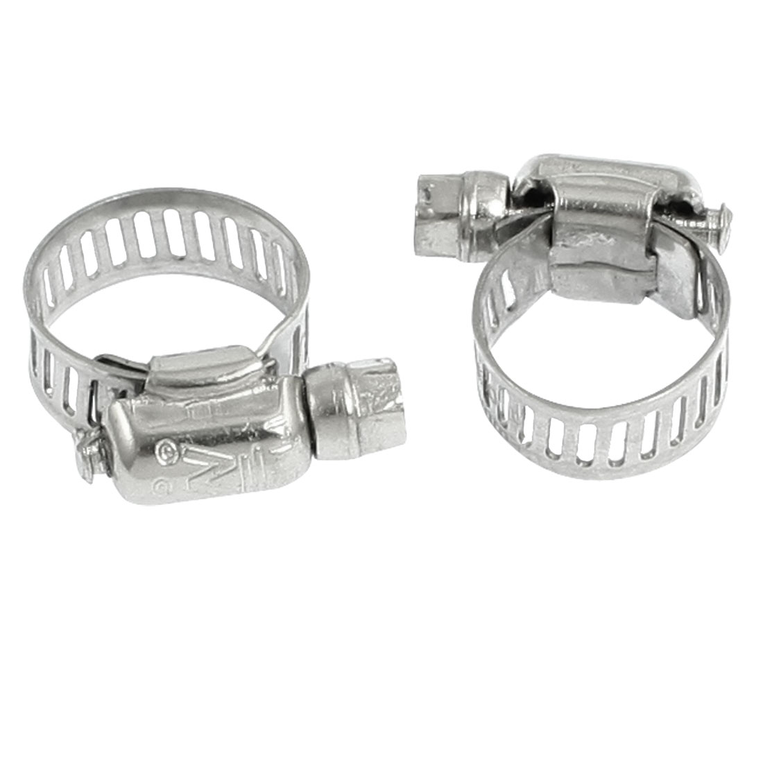 Unique Bargains 2 Pcs Worm Drive Adjustable Pipe Hose Clamp Wrap 10mm-16mm