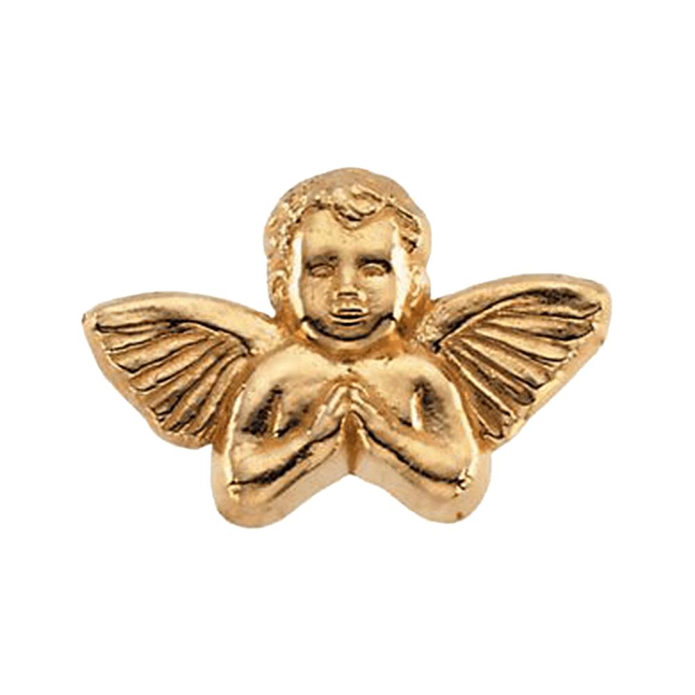 14K Yellow Gold Praying Cherub Pin Brooch by
