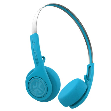 JLab Audio Rewind Wireless Retro Headphones - Blue - Bluetooth 4.2 Twelve Hours Playtime Custom EQ3 Sound Play and Pause Your Music Answer & Hang Up Phone Calls and Track Forward Throwback 80s