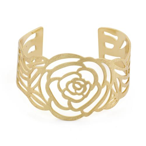 Isla Simone Rose Cuff Bangle(Refurbished) Gold