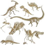 Girl12Queen Funny 3D Simulation Dinosaur Skeleton Puzzle DIY Wooden Educational Toy for Kids