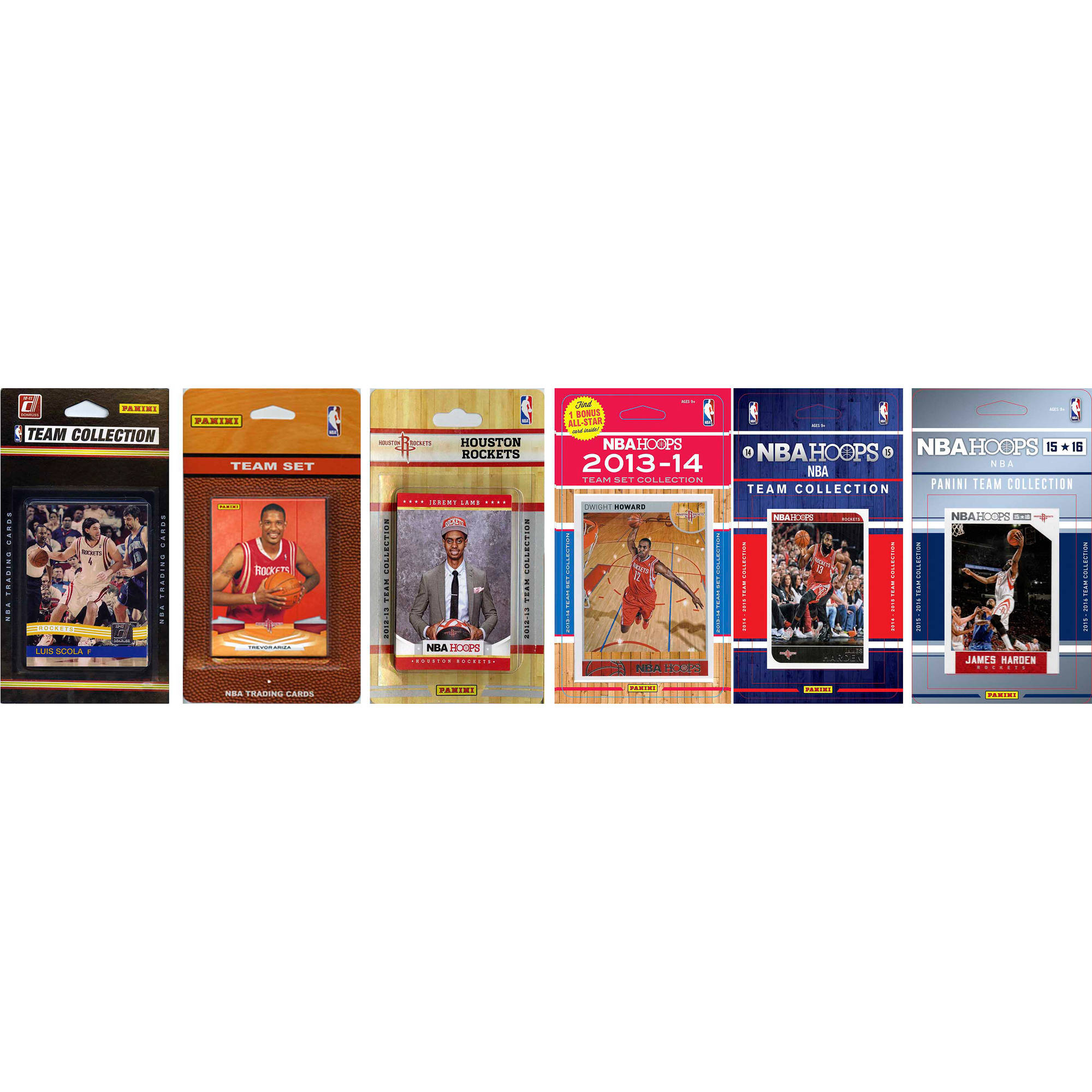 C&I Collectables NBA Houston Rockets 6 Different Licensed Trading Card Team Sets