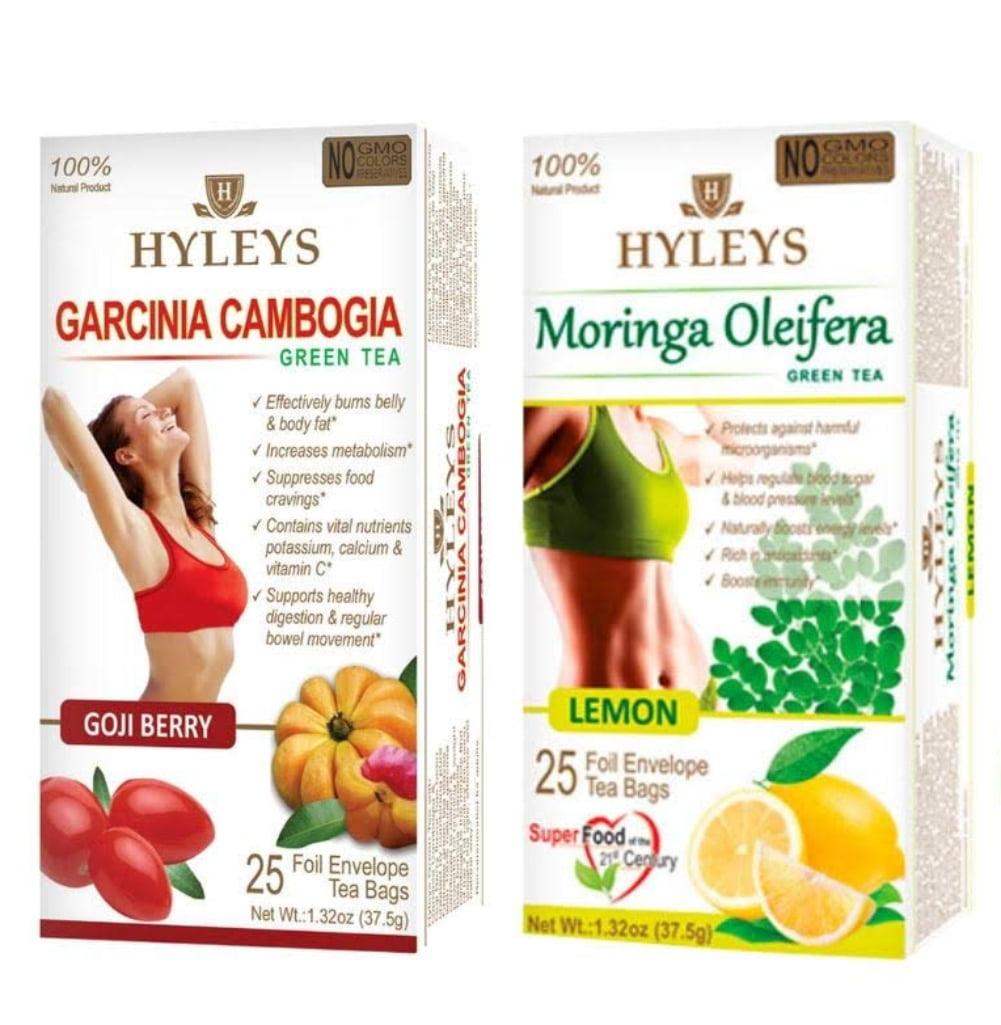 Hyleys Wellness Slim Tea 2 Pack Garcinia Cambogia Green Tea