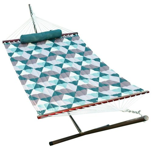 Wrought Studio Fennell Quilted Hammock with Stand