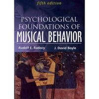 Psychological Foundations of Musical Behavior (Paperback)