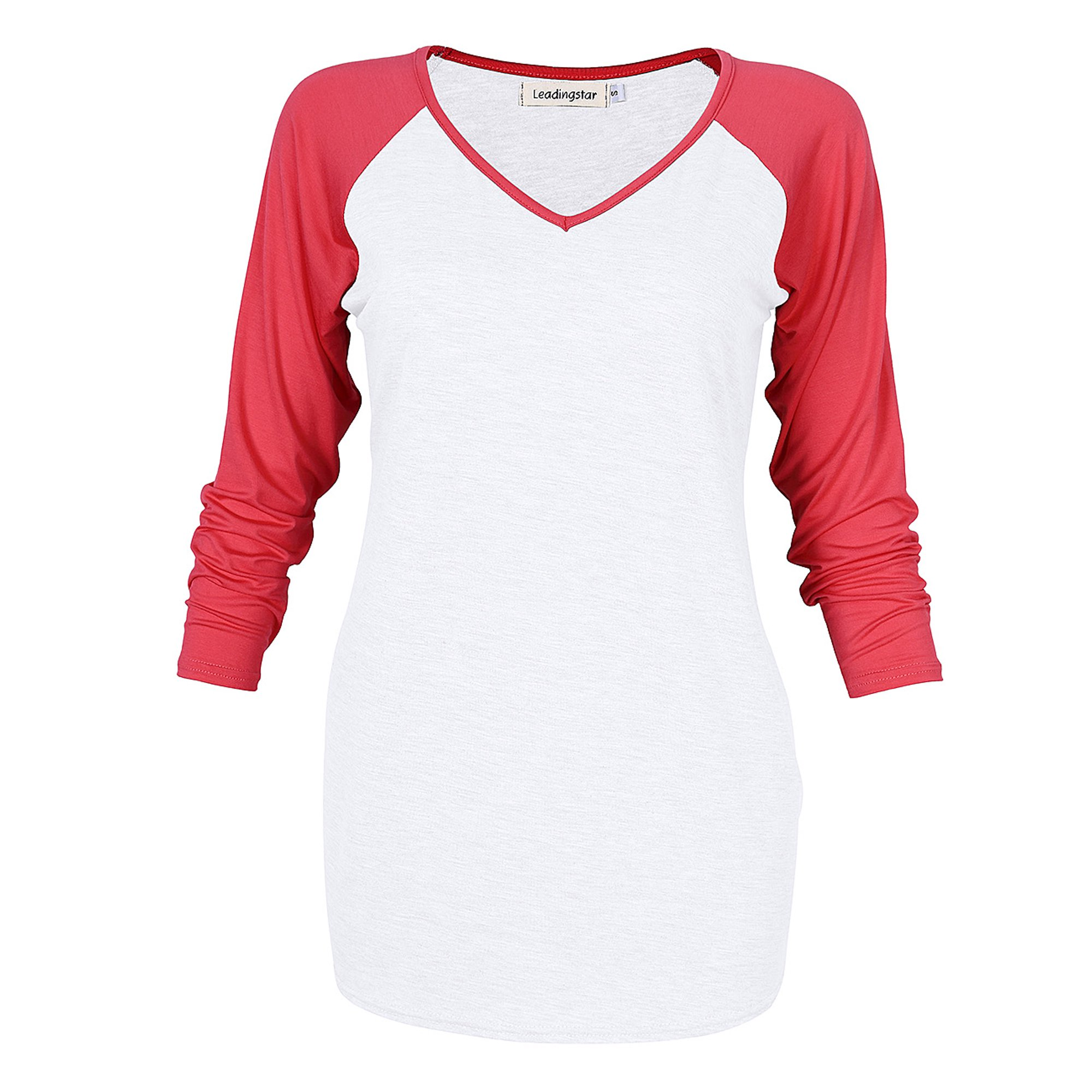 aa916daa Leadingstar Women's Casual Cotton V Collar Raglan T-Shirt Fashion 3/4  Sleeve Shirt Size S | Walmart Canada