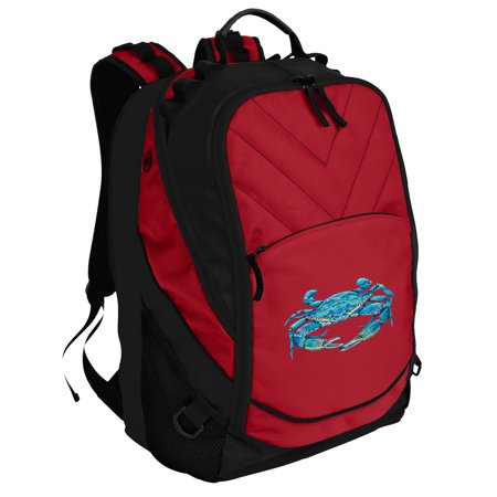 Blue Crab Backpack Blue Crabs Backpack Or School Bag Padded For Computers And Laptops
