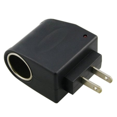 Universal AC to DC Car Cigarette Lighter Socket Adapter US Plug (Cigarette Lighter Plug Fused)