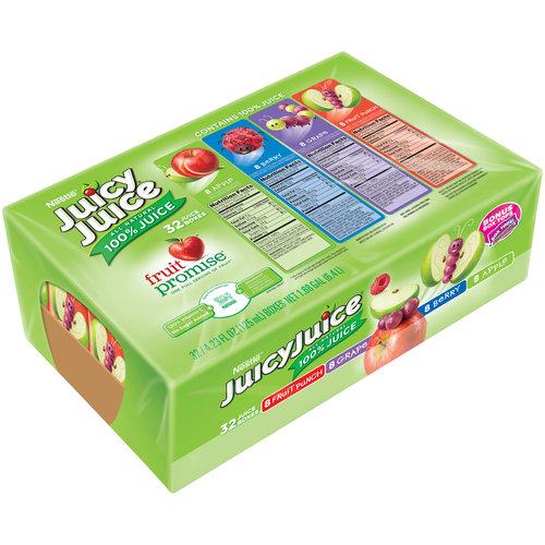 Juicy Juice Fruit Punch/Grape/Berry/Apple 100% Juice, 4.23 fl oz, 32 count