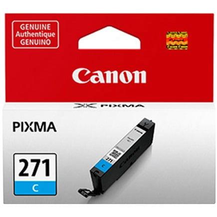 Canon Cli-271 Series Ink Cartridge Canon CLI-271C Ink Cartridge - Cyan - Inkjet - Standard Yield - 311 Page - 1 /