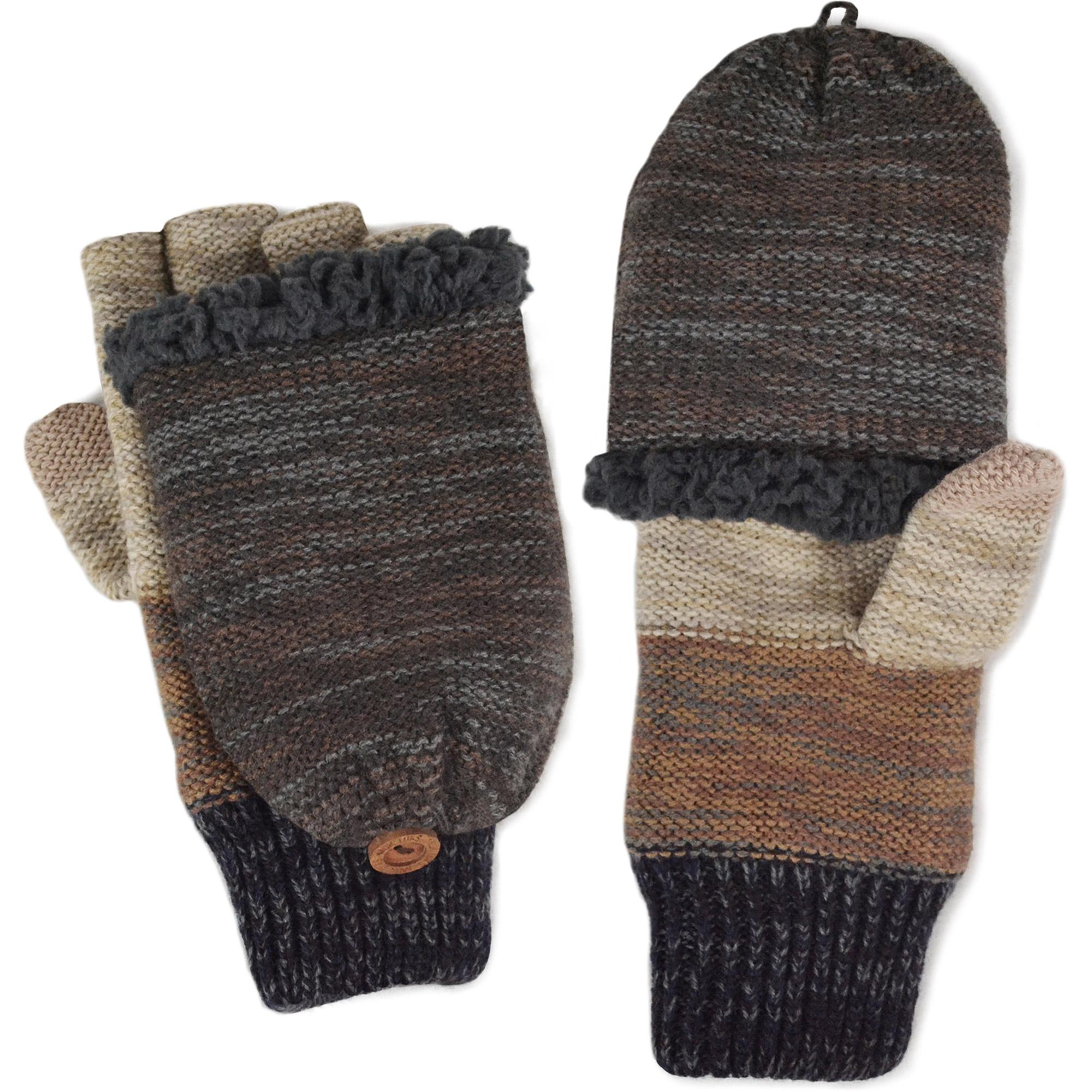 MUK LUKS Men's Ombre Knit Flip Gloves