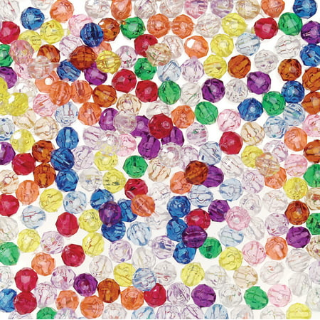 Darice Transparent Multicolor Faceted Beads, 6mm, 1050 (Faceted Flat Rectangle Beads)