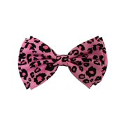 Pre-tied Bow Tie in Gift Box - Pink Leopard Print 4.3 inches