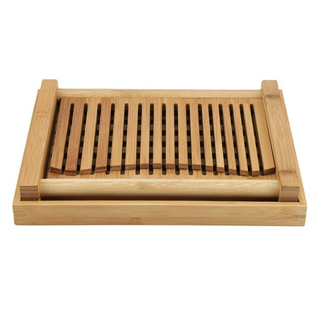 Qiilu Foldable Bamboo Bread Slicer Guide with Crumb Catching Tray, Bamboo Bread Slicer Guide,Bread Slicer Guide - image 11 of 13