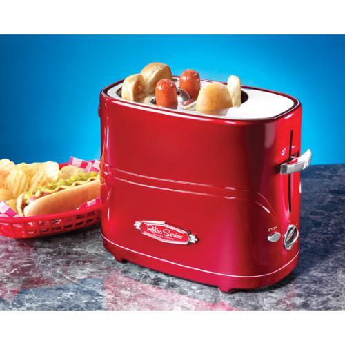 Nostalgia HDT600RETRORED hdt600retrored- Pop-up Hot Dog & Bun Toaster