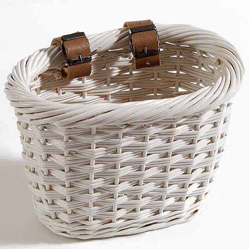 Child's Cliff Road Basket, Oval, White