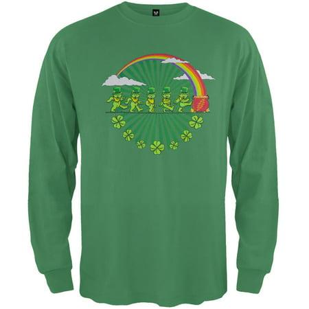 Grateful Dead - Leprechaun Bears Irish Green Youth Long Sleeve T-Shirt