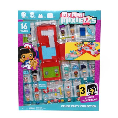 Party Figure - My Mini MixieQ's Cruise Party Collection With 16 Figures (For Ages 4+ Years) By My Mini MixieQs