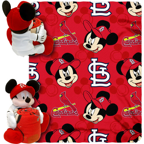 "Disney MLB Pitch Crazy Hugger Pillow and 40"" x 50"" Throw Set, St. Louis Cardinals"