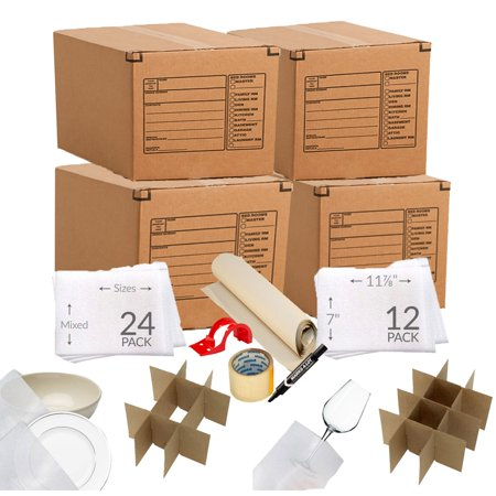 Ubo Kitchen Moving Box Kit 4 Bo Dish Gl Inserts