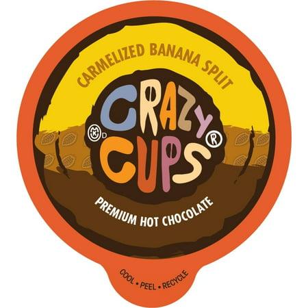 Crazy Cups Caramelized Banana Split Premium Hot Chocolate Single Serve Cups, 22 count](Crazy Cups)