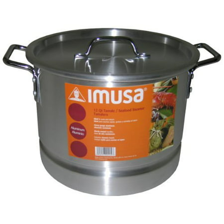 IMUSA MEXICANA-24 Tamale and Seafood Steamer, 12-Qt., (Tamale Steamer)