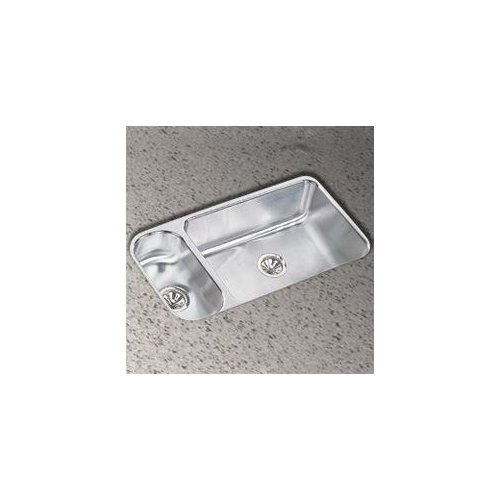 Elkay 19''x32'' Double Bowl Undermount Stainless Steel Kitchen Sink with Reveal