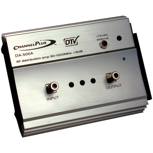 Channel Plus DA-500A RF Amplifier, Full RF Spectrum with 1 Output