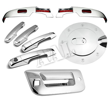 - AAL Premium Chrome Cover Combo For 2007 2008 2009 2010 2011 2012 2013 CHEVY SILVERADO LOWER MIRROR+4 DOORS+TAILGATE+GAS