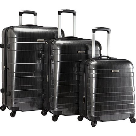 McBRINE Luggage McBrine Eco-Friendly 3-piece Hardsided Spinner Upright Luggage Set