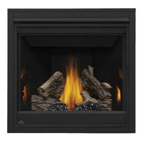 Top Rear Vent Electronic Ignition Fireplace With Black