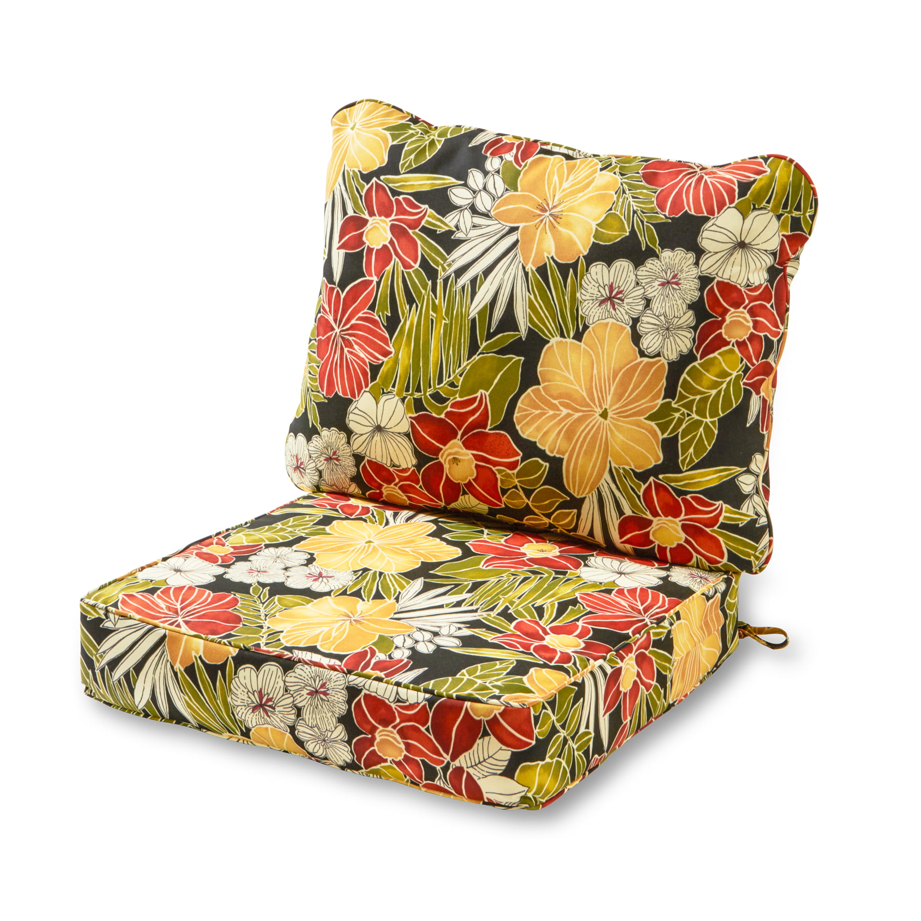 Greendale Home Fashions Outdoor Deep Seat Cushion Set, Aloha Black by Greendale Home Fashions
