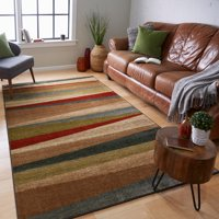 """Mohawk Home New Wave Mayan Sunset Sierra Printed Area Rug, 7'6""""x10', Tan & Red"""