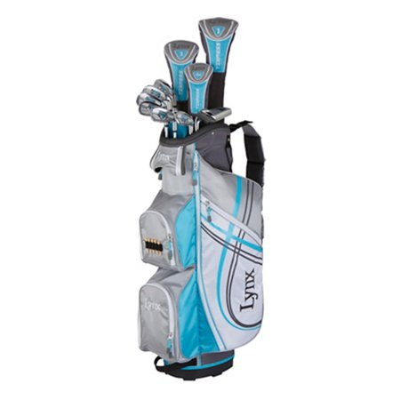 New Lynx Tigress Womens 15 Pc Complete Golf Set Driver Woods Irons Putter Bag