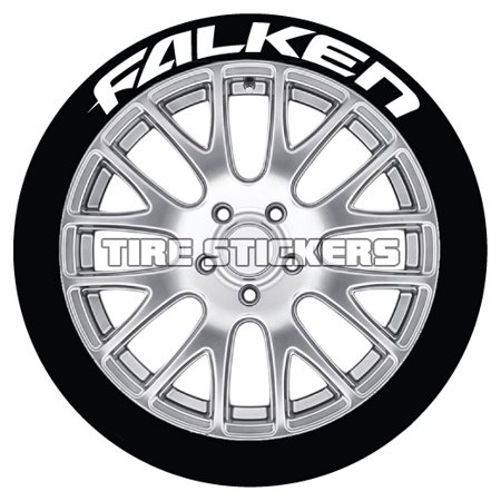 Falken Wheels - FALKEN Tire Stickers - White - 1.0