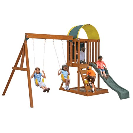 KidKraft Ainsley Wooden Swing Set (Best Outdoor Playsets Reviews)
