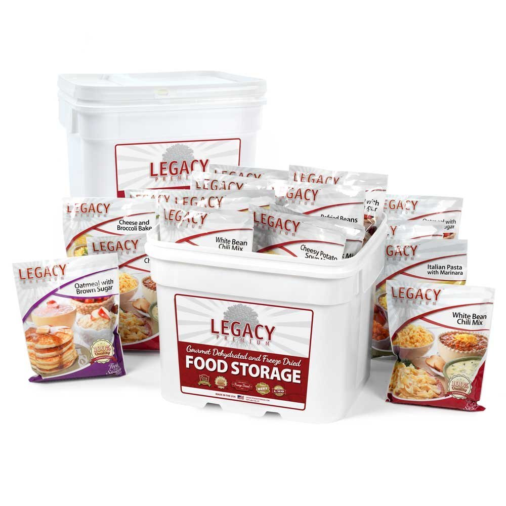 Legacy Premium 240 Large Serving Emergency Food Supply - 62 lbs - Long Term Emergency Freeze-Dried Meals - 25 Year Shelf Life Disaster Preparation