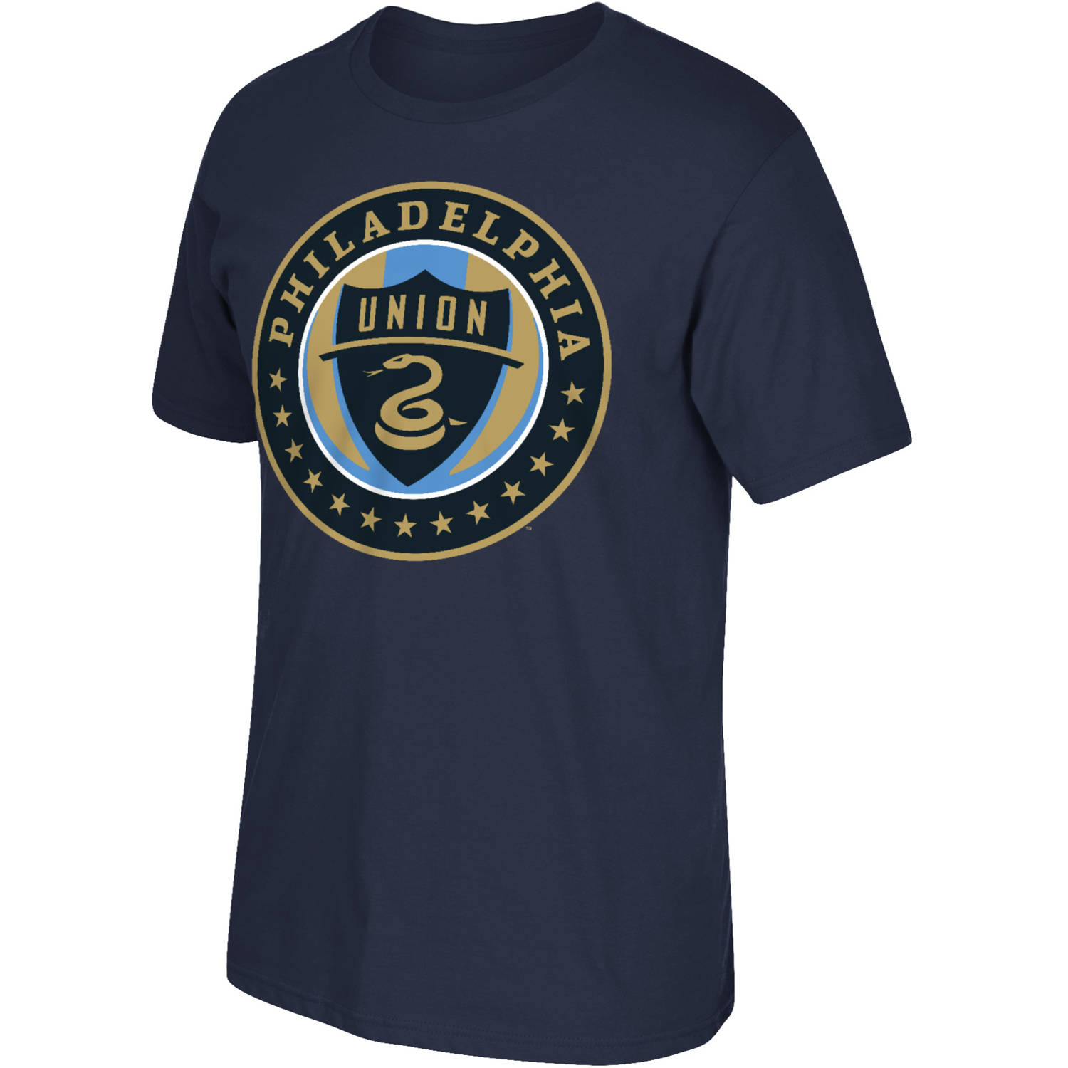 MLS Philadelphia Union Mens Oversized Logo Short Sleeve Tee