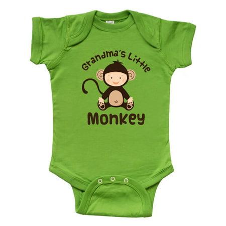 Grandma's Little Monkey Infant Creeper - Monkey Onesie