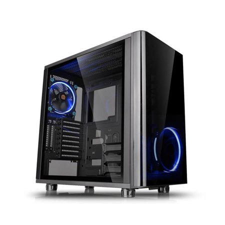 Dual Tempered Glass No Power Supply Advanced Technology Extended Mid Tower, Black Advanced Technology Black Glass