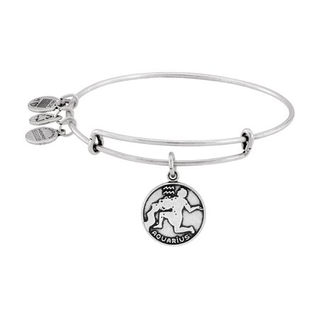 Aquarius Charm Bangle Bracelet - A13EB01AQRS Bamboo Silver Bracelet Bangle